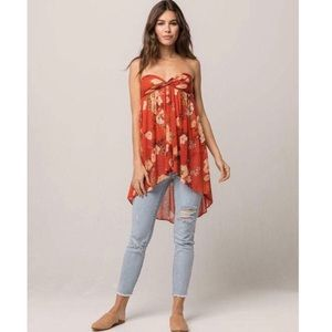 Free People Floral Mirage Convertible Tube Tunic